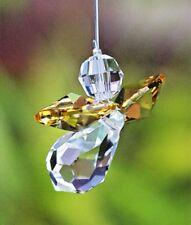 Yellow Guardian Angel Sun Catcher/Rainbow Maker Swarovski Crystal Element + Gift