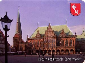 Hansestadt Bremen 2 Kühlschrankmagnet 3D Fridge Refrigerator Magnet 6 x 8 cm