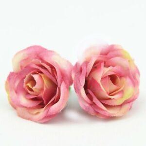 10pcs Roses Head Artifical Plastic Rose Wedding Office Home Decor Silk Flower
