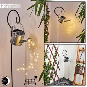 Solar Aussen Leuchten LED Garten Lampen Balkon Beleuchtung silber Lichteffekt