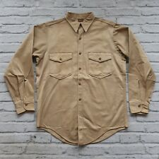 Vintage Rare 40s WWII Dickies Army Cloth Shirt Size 15 1/2 Military