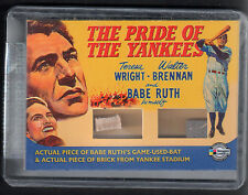 VINTAGE MOVIE POSTERS MONSTERS & COMEDY Card #VR3 BABE RUTH BAT YANKEE BRICK