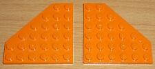 Lego Sponge Bob 2 Flügelplatten 6 x 6 in orange