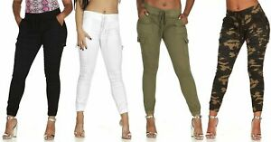 VIP CG  Jeans Collection Cargo High Waisted Jogger Skinny Drawstring Pants