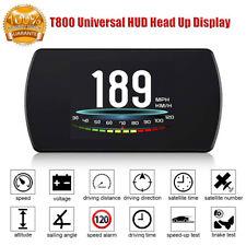 Universal T800 Car HUD Head Up Display Digital GPS Speedometer Overspeed Alarm