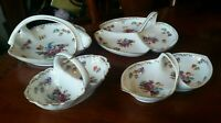 Noritake Dresdoll Serving Dishes and Various Baskets - Lot of 4
