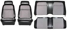 1969 Camaro Deluxe Houndstooth Interior Seat Cover Kit  OE Quality! Black