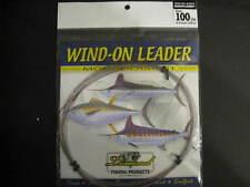 Momoi Leader 90002 Diamond Wind On Leader 100Lb 25' Smoke Blue