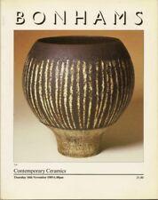 BONHAMS Contemp Ceramics Leach Hamada Ward Rie Coper