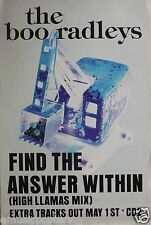 """BOO RADLEYS """"FIND THE ANSWER WITHIN - HIGH LLAMAS MIX"""" U.K. PROMO POSTER"""
