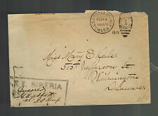 1919 US Army Soldier Cover AEF Siberia Russia Allied Expeditionary Force to DE