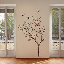Large Tree with Birds Wall Stencil - Reusable stencil for better than wallpaper