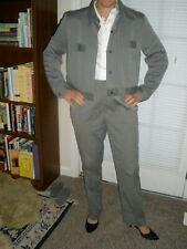 LINDA ALLARD for ELLEN TRACY 2 Piece Classic Gray Pinstriped Pant Suit  Size 10P