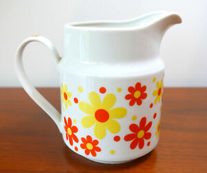 MCM Small Flower Power Ceramic Pitcher Japan Original