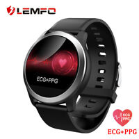 LEMFO smartwatch ECG PPG waterproof heart rate blood pressure monitor Android