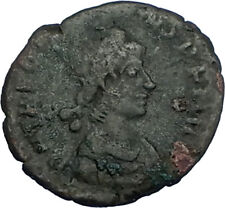 THEODOSIUS I the GREAT 379AD Authentic Ancient Original Roman Coin VOT i65808