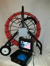 Sewer snake pipe cleaner video inspection camera system locator sonde 100'