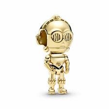 original Pandora Charm Star Wars  C-3PO 769244C01 Shine Dorato Charm Oro Robot