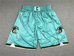 New Adult Size Green Color Charlotte Hornets Shorts Size S M L XL XXL