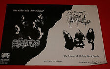 Profanatica Masacre Osmose Productions Vintage Rare Ad Flyer 1991 French Import