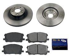Front Ceramic Brake Pad Set & Rotor for 2012 Subaru Legacy 2.5I-2.5I Ltd-2.5I...