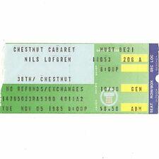 NILS LOFGREN Concert Ticket Stub PHILADELPHIA 11/5/85 CHESNUT BRUCE SPRINGSTEEN