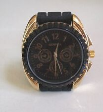 Women's,Boy's,Girl's Gold/Black Silicon Band Dressy/Casual Fashion Wrist Watch