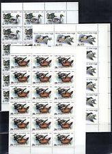 JR 36X RUSSIA 1991 - MNH - BIRDS - DUCKS - WHOLESALE - BENT SHEETS