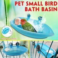 Plastic Bird Cage Bath Basin With Mirror For Pets Small Bird Parrot Bathtub