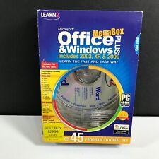 NOS Learn2 Microsoft Office & Windows Plus MegaBox Includes 2003, XP, & 2000