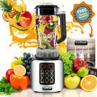 NutriChef NCBL1700 Digital Electric Countertop Food Processor Compact Blender