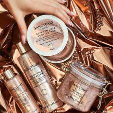 Sanctuary Spa Rose Gold Radiance Exquisite Bath Salt , Elixir , Body Butter, OIL