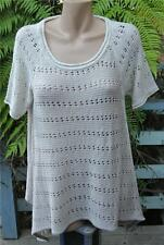 Crossroads Mascarpone Lace Knit TUNIC TOP Size M-14/16 NEW rrp$49.95 Peak Sides