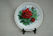 'Olympiad' by Paul Sweany Hamilton Collection Roses of Elegance plate  Pre-owned