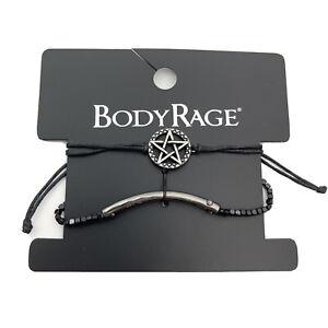 Body Rage Pentagram Choker Set Black Adjustable Necklace 2 PC Spencers NEW