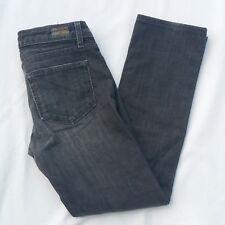 Paige Denim Melrose Classic Rise Straight Leg Ash Gray Grey Jeans Size 26 x 26
