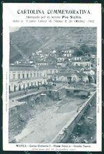 Ragusa Modica Alluvione 1902 Teatro Lirico Milano cartolina QT8044