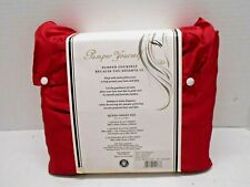Pamper Yourself Lacquer Red Satin Elegance Queen Sheet Bedding Set Queen Size