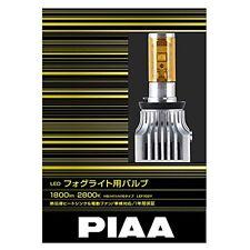 PIAA LED Fog Light Bulb 1800lm 2800K H8/H11/H16 Yellow 12V 16W 2 Pieces LEF 102Y