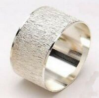 Silver Textured Napkin Rings in Sets of Four, Six or Eight