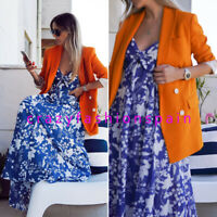 ZARA WOMAN NWT SS20 BLUE PRINT DRESS ALL SIZES REF: 4886/087