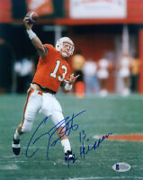 GINO TORRETTA SIGNED 8x10 PHOTO + 92 HEISMAN MIAMI HURRICANES THE U BECKETT BAS