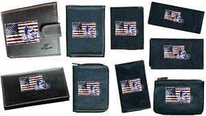 Porte Chequier ou compagnon porte monnaie porte carte grise Drapeau USA Harley