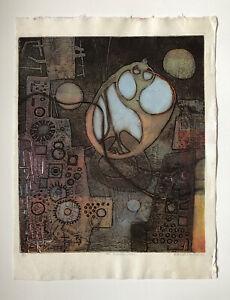 "ELAINE HAXTON 1909-99 Australian Ltd Ed ETCHING ""Broken shell"" ed 6/6 Atelier 17"
