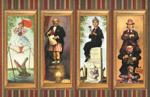 Haunted Mansion Stretching Portraits Attraction Poster