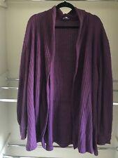Ladies Plus size 22 eggplant colour rib knit cardigan*polyester*Exc pre-loved