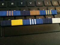6- DIFFERENT DEPARTMENT OF NAVY CIVILIAN SERVICE RIBBONS $4.99  SEE STORE SALE!!