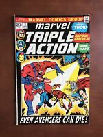 Marvel Triple Action #8 (1972) 7.0 FN Bronze Age Comic Book Thor Avengers