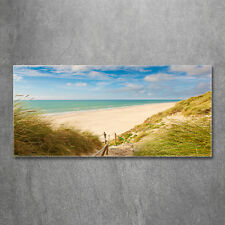 Glas-Bild Wandbilder Druck auf Glas 120x60 Deko Landschaften Küsten-Dünen