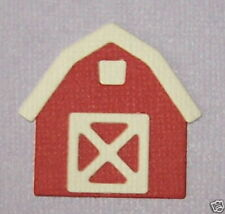 5 Barns Premade PAPER Die Cuts / Scrapbook & Card Making